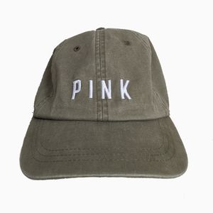 PINK VICTORIA'S SECRET | OLIVE GREEN BASEBALL CAP
